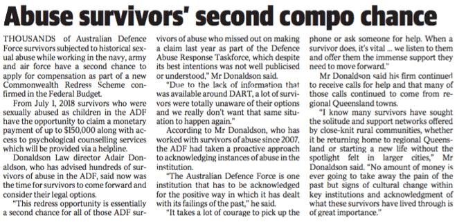 Abuse survivors second compo chance